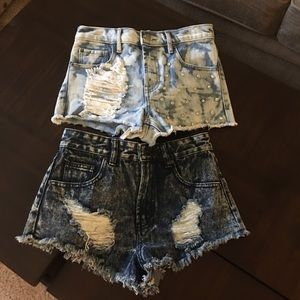 Forever21 Jean Shorts Lot (2) Size 25